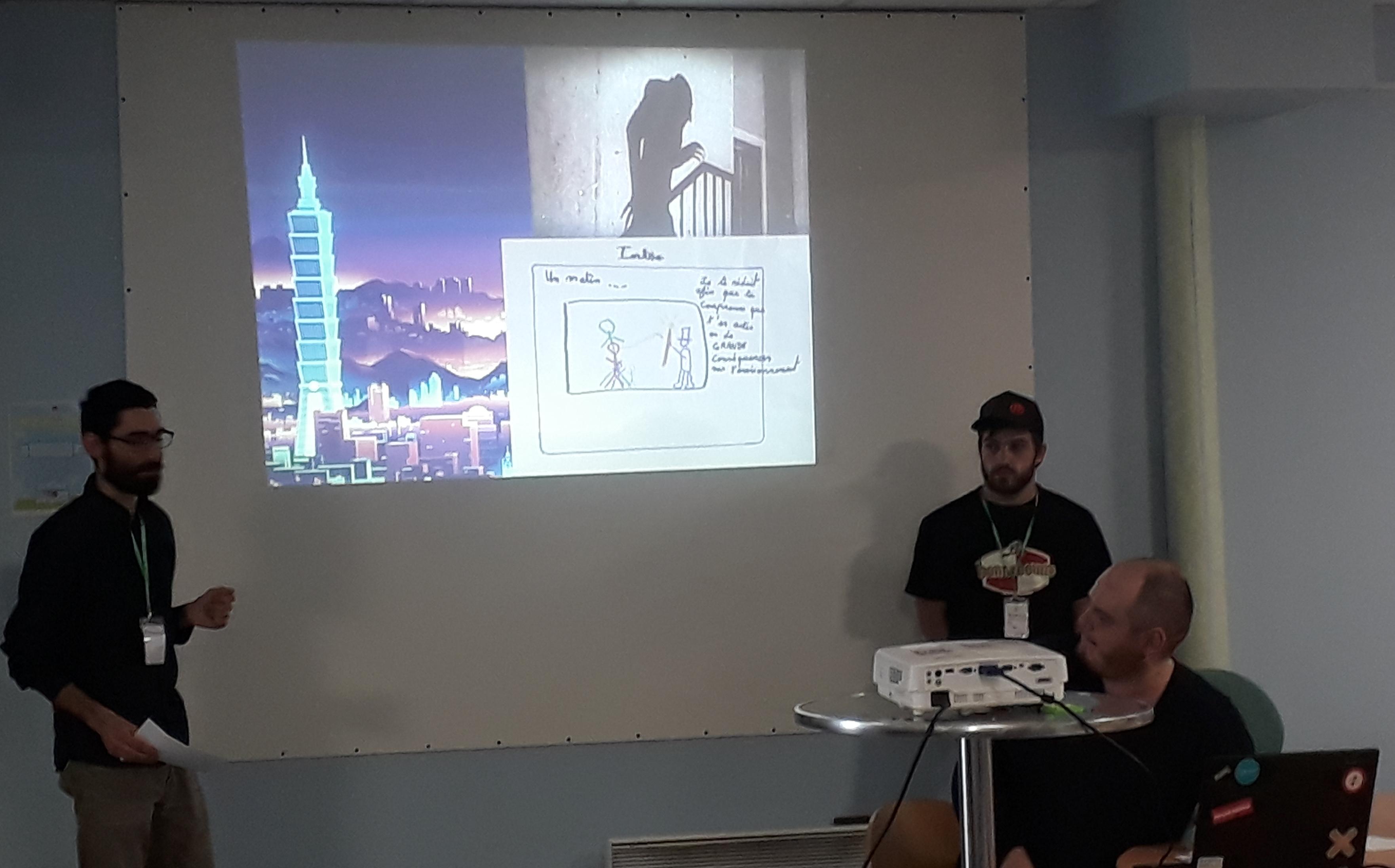 Début du jeu ÉcoKid : le méchant Energeox diminue notre taille !