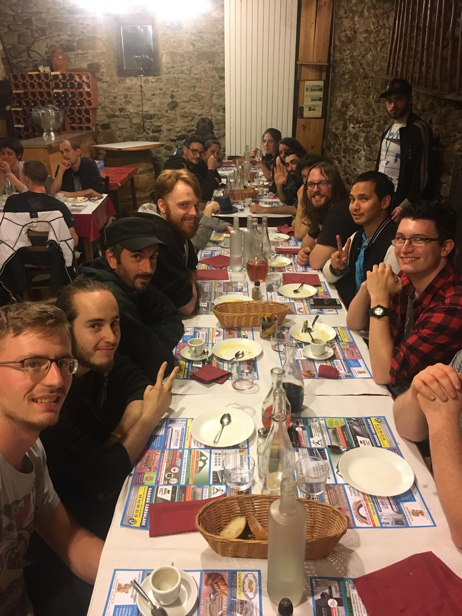 Pause bien méritée le samedi soir au restaurant le Grilladou