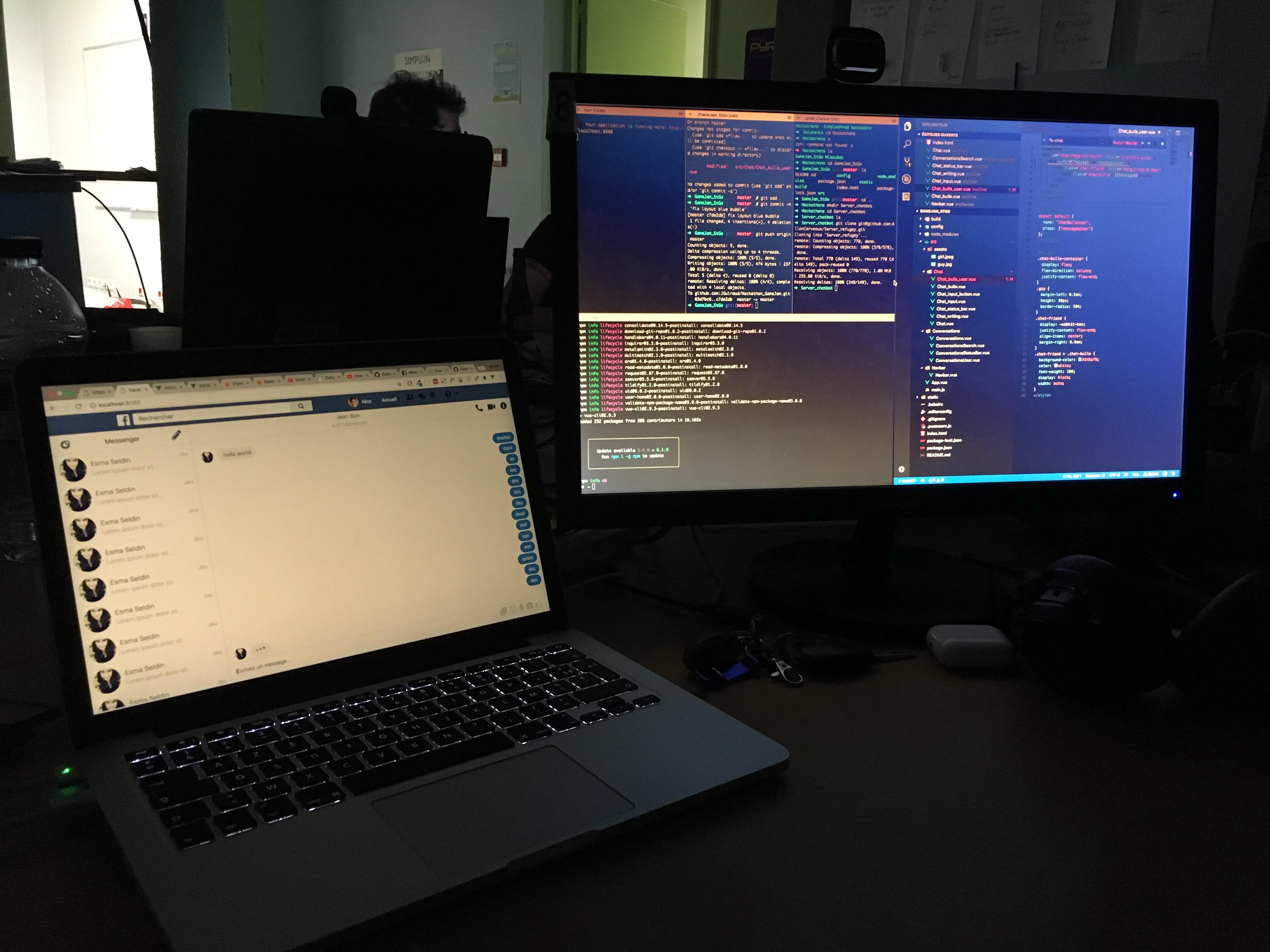 Le projet bonus de chatbot pour Le Refuge - Work in progress